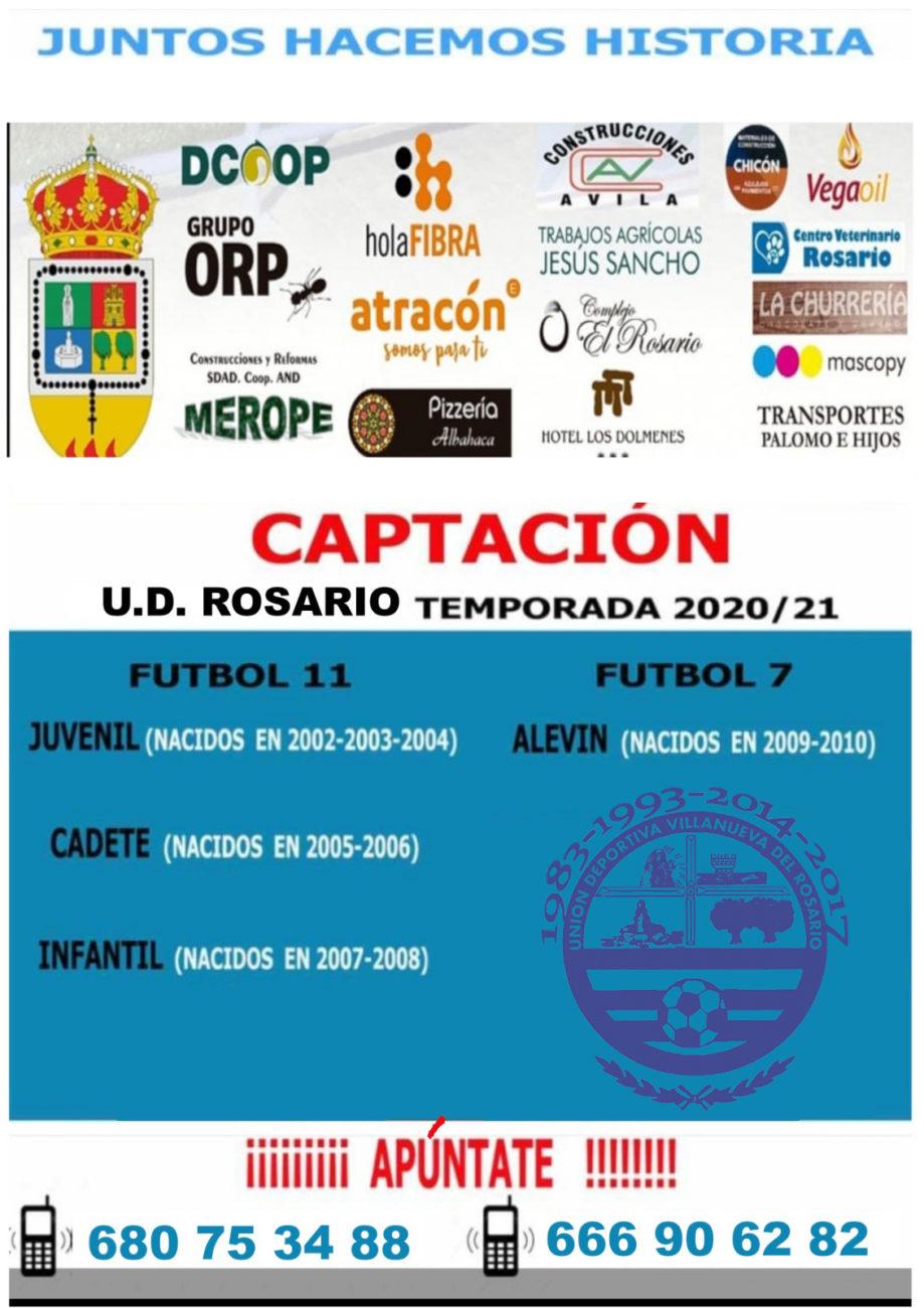 CAPTACIÓN UD ROSARIO 2020 /  21